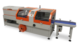 A complete inline automatic shrink system comprised of a 6800CS Side Sealer, Double Tunnel, and 3' Infeed Conveyor