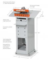Clamco Model 825 Stand for Bench Mounted Sealer