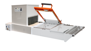 Combine the Clamco 820 Tunnel with the Clamco 1614 L-Bar Sealer tabletop industrial sealer to create a complete shrink packaging system (Combo Junior B).