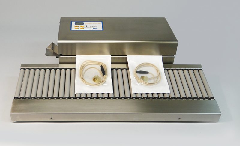 Contimed D665 Medical Band Sealer with seal control & auto start, shown with roller shelf option
