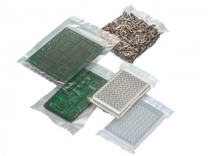 Vacuum packed industrial products in a vacuum sealer