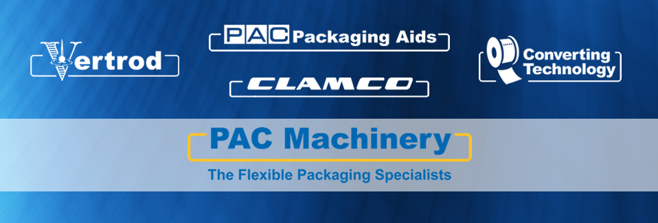 The PAC Machinery family of companies includes Packaging Aids, Vertrod, Clamco, and Converting Technology