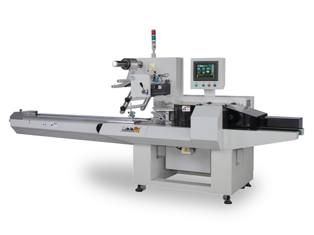 FW 450S flow wrapper equipped with numerous features that help bakery product packagers